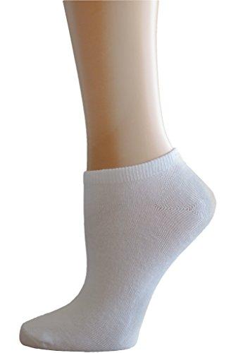 Women's 8 Pack Athletic Runners Socks,White Sock size 9-11/shoe size 4-10