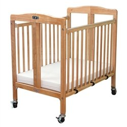 L.A. Baby Folding Wood Window Crib With Fixed Side Rails -- Mattress Included (L.A. Baby Lab-583 Or front-504856