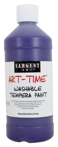 Sargent Art 22-3442 16-Ounce Art Time Washable Tempera, Violet