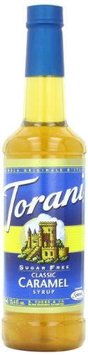 Torani Sugar Free Syrup, Classic Caramel, 25.4 Ounce (Pack Of 4)