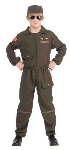 Fighter Jet Pilot Child Costume, Large