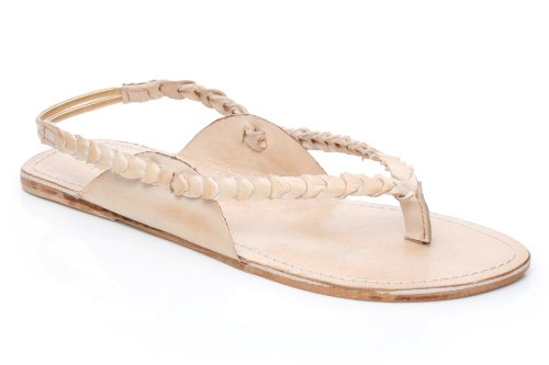 UNZE London Women's K-7185 Sandals,Natural,4