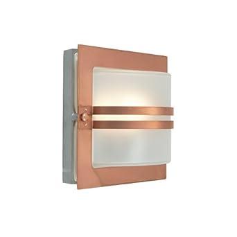 Lampada Plafoniera A Parete Design Moderno In Rame Naturale Per Esterni- Illuminazione Giardino ...