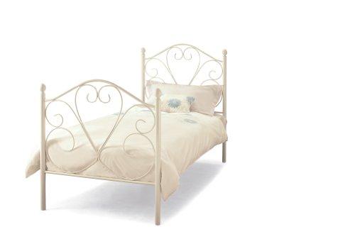 Isabelle White Gloss Metal Bed Frame | Single 3FT 90cm