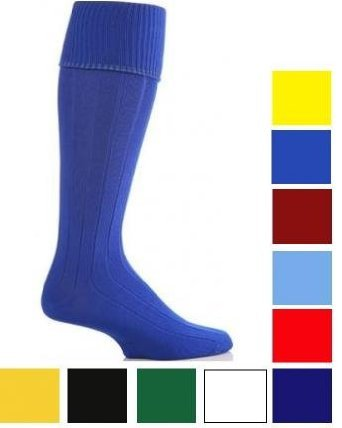 Unisex Knee High Football Hockey Plain Sport Socks (Youth 3-6, Black)