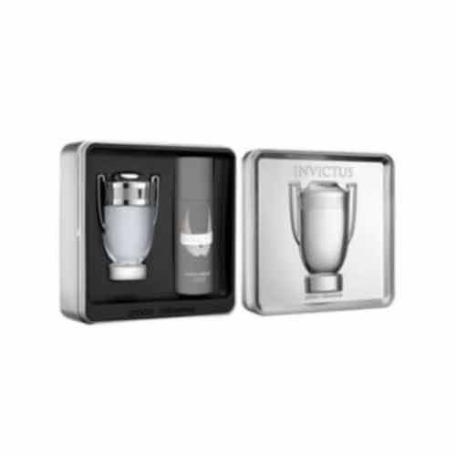 Paco Rabanne Invictus 2 Piece Gift Set for Men (Deodorant Spray Plus Eau de Toilette Spray)