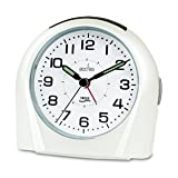Acctim 14112 Europa Alarm Clock, White