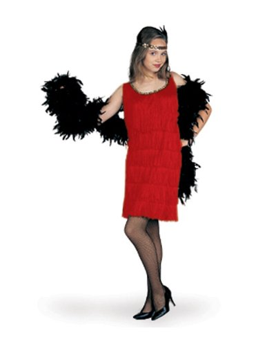 Red Fashion Flapper Girl Kids Costume