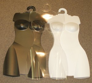 Set of 10 Body Form/Forms, Ladies Torso/Store/Lingerie/Swimwear Display Plastic Hangers/Clear Color