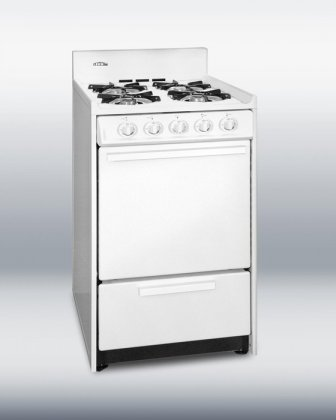 Summit-WNM1107-20-Freestanding-Gas-Range-with-4-Open-Burners-246-Cu-Ft-Capacity-Porcelain-construction-Broiler-Drawer-Recessed-Oven-Door-Electronic-Ignition-in
