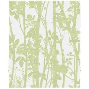 Fresco Fabric Branches Wallpaper - Green by New A-Brend
