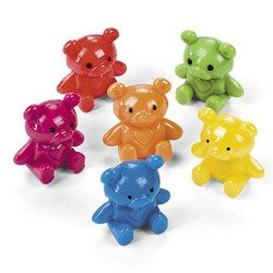 MINI TEDDY BEAR VINYL CHARACTERS (2 DOZEN) -