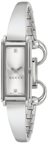"Gucci Women's YA109519 ""G-Line"" Diamond-Accented Stainless Steel Watch"