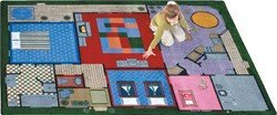 "Joy Carpets Kid Essentials Active Play & Juvenile Creative Play House Rug, Multicolored, 3'10"" x 5'4"""
