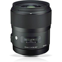 Sigma 340306 35mm F1.4 DG HSM Lens for Nikon (Black)
