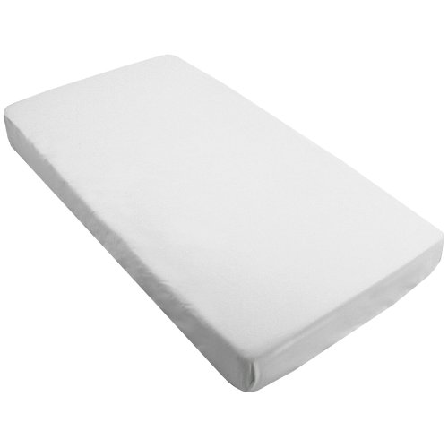 Kushies Percale Fitted Crib Sheet, White - 1