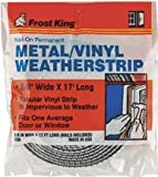 Frost King V38h Metal & Tubular Vinyl Weather Strip Kit, 5/8