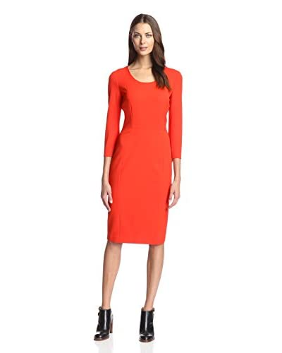 Sfizio Women's 3/4 Sleeve Sheath Dress