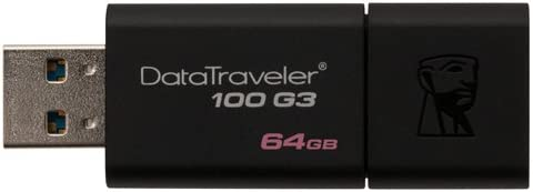 Kingston Digital 64GB 100 G3 USB 3.0 Data Traveler (DT100G3/64GB)