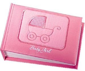 Baby Girl pink brag book for 96 photos by Russ Berrie