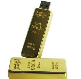 usb Spaß Schlüssel Flash-Laufwerk Memory Stick 8G-Goldbarren