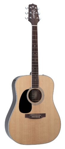 Takamine Pro Series Ef360Gf-Lh Glenn Frey Dreadnought Acoustic Electric Guitar, Natural Left Handed With Case