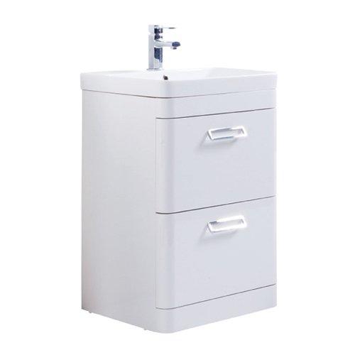 Kartell metro cassetto con lavandino lavabo da pavimento bianco, Legno, White, 500mm x 460mm White