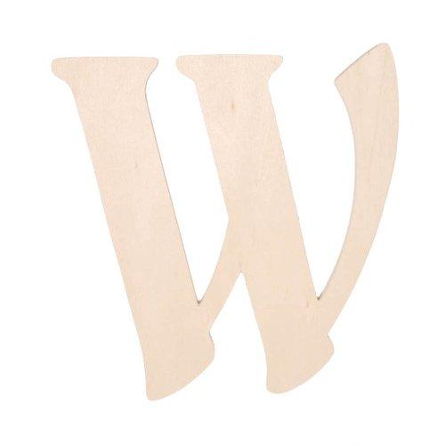 Darice 9130-W Fancy Wood Cutout, Letter W, 5-Inch