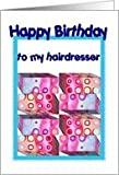 Hairdresser Birthday with Colorful Gifts Card