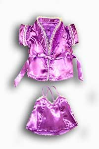 """Silk Lingerie & Robe Pajamas Outfit Teddy Bear Clothes Fits Most 14"""" - 18"""" Build-A-Bear, Vermont Teddy Bears, and Make Your Own Stuffed Animals"""