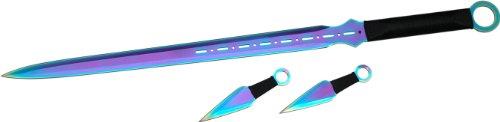 Fantasy Master FM644D Fantasy Short Sword Knife and Thrower Set