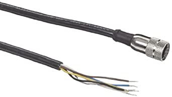 Banner MQVR3S-515 EZ Light Indicator Quick Disconnect Cable, AC Models, 5-Pins, Straight, 5 meters Cable Length