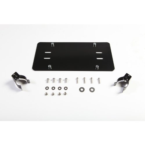 Discover Bargain Rugged Ridge 11238.05 Black License Plate Mounting Bracket for Roller Fairlead