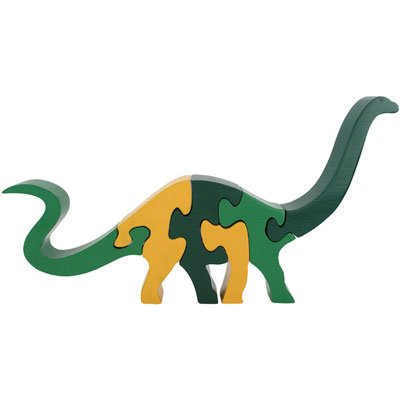 Picture of ImagiPLAY Tall Brontosaurs - Wooden 3D Puzzle (B000JT38X8) (3D Puzzles)