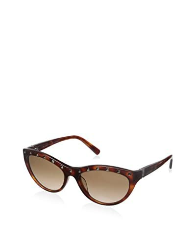 Valentino Women's V641S Sunglasses, Blonde Havana