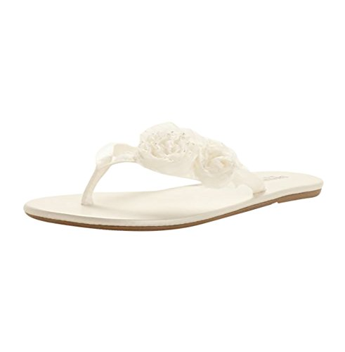 Zoey Flip Flop Style ZOEYI, Ivory, M (Bridal Shoes Ivory compare prices)