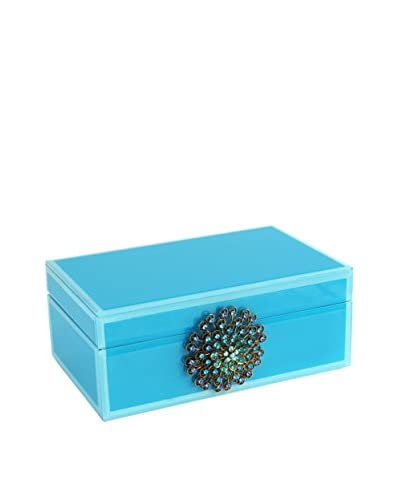 American Atelier Large Jewelry Box with Brooch, Teal