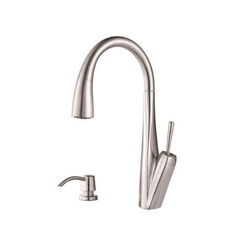 KWC DIVO-ARCO Kitchen Pull Out Faucet Stainless Steel