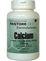 Calcium Citrate 250 mg 120 Capsules by Pastore Formulations