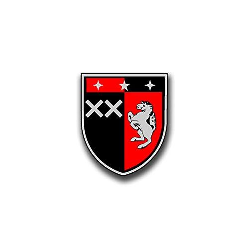 Aufkleber / Sticker - Panzerbataillon204 Sticker Aufkleber PzBtl Panzer Bataillon Hemer Wappen Abzeichen Emblem Bundeswehr passend für Opel Astra VW Golf GTI 3er BMW 6x7cm #A805