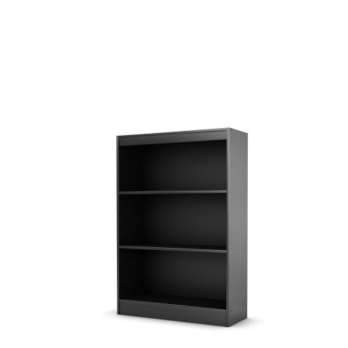 South Shore Axess Collection 3-Shelf Bookcase, Black