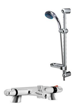 Reef Thermostatic Bath Shower Mixer  &  FREE Deluxe Shower Kit Chrome