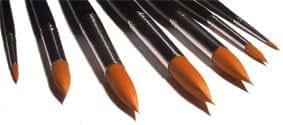 7 Künstlerpinsel Spitzpinsel spitz Pinselset für Aquarellfarben und Acrylfarben Acrylpinsel, Aquarellpinsel