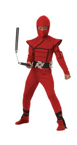 Stealth Red Ninja Kids Costume, size Medium
