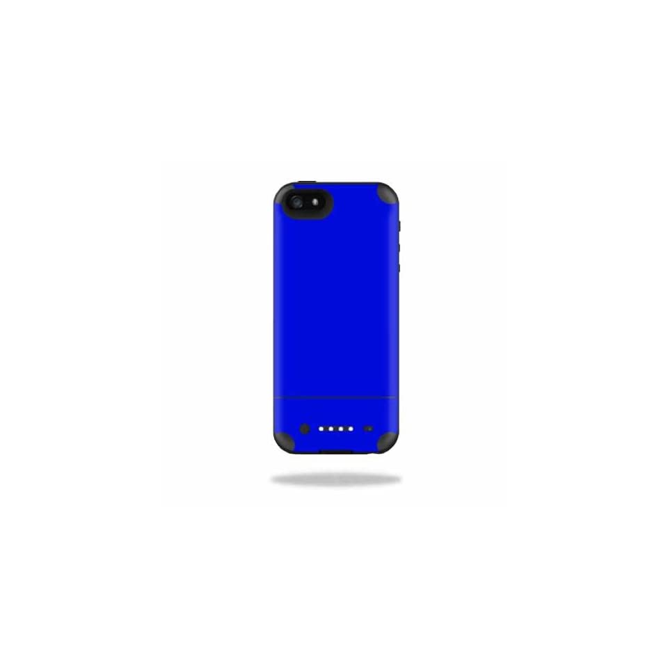 Mightyskins Protective Vinyl Skin Decal Cover for Mophie Juice Pack Air iPhone SE/5s/5 Apple iPhone SE/5s/5 Battery Case wrap sticker skins Solid Blue