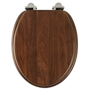Roper Rhodes Solid Wood Soft Close Toilet Seat Walnut DIY Amp