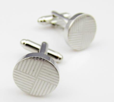 Simple Double Lines Mens French Shirt Cufflinks Cuff Links Studs 1 Pc/pack