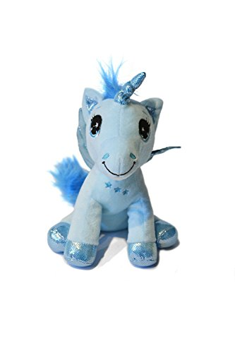 Les-monde-magique-des-licornes-Licorne-TR-40cm-belle-qualit-couleur-bleu