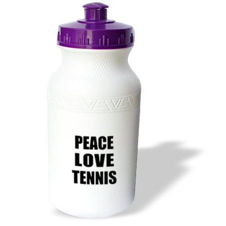 Wb_184916_1 Inspirationzstore Happiness Is - Peace Love And Tennis - Things That Make Me Happy - Sport Player Gift - Water Bottles back-400375