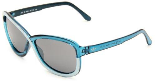 adidas Women's Tokyo Ah29-6050 Butterfly Sunglasses,Petrol Mint Frame/Grey Mirror Lens,58 Mm